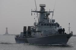 """Rozwiązania proponowane przez holenderski koncern Thales stosowane są już w okrętach rakietowych projektu 660 Orkan. Na zdjęciu ORP """"Orkan""""."""