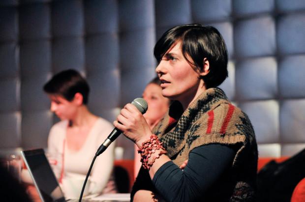 Ania Grebieniow, jedna z trzech zaproszonych podróżniczek, opowiadała o jurcie, w której mieszka na Suwalszczyźnie oraz o fascynacji Mongolią.