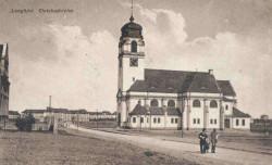 Tak niegdyś wyglądał  Christuskirche  i jego okolice.