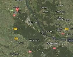 Miejscowość Mikanowo nieopodal Włocławka.