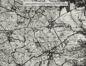 Tu, gdzie dziś powstają kolejne gdańskie osiedla, przed wojną istniały wsie Wonneberg (Ujeścisko), Schönfeld (Łostowice), Zangen (Zakoniczyn), Schüddelkau (Szadółki).