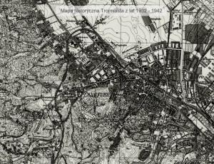 Uwagę zwraca łuk tzw. Kolei Kaszubskiej, która połączyła widoczne na mapie Wrzeszcz, Strzyżę, Brętowo z Migowem, Kiełpinkiem i Kokoszkami. W ciągu półtora roku na tej samej trasie powstaną tory Pomorskiej Kolei Metropolitalnej.