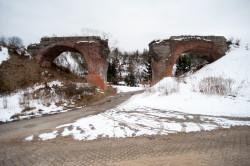 Zniszczony wiadukt w ciągu ul. Dolne Migowo.