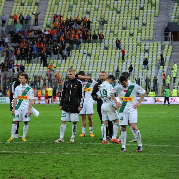 Smutni piłkarze Lechii i cieszący się kibice Jagiellonii. To dowód na to, że na PGE Arenie gdańszczanie znów przegrali.
