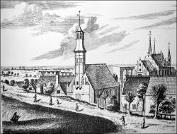 Tak przed wiekami wyglądał kościół św. Elżbiety.
