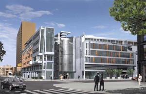 Taki biurowiec planowało tu zbudować Portico we współpracy z firmą Apollo Rida. Co na skrzyżowaniu Rajskiej i Heweliusza zbuduje nowy właściciel?