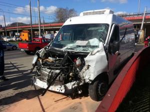 Nie tylko trolejbus ucierpiał w tym wypadku.