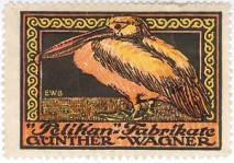 Reklamówka wytwórni wiecznych piór Gunthera Wagnera Pelikan.
