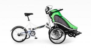 Na rynku są też dostępne przyczepki montowane z przodu roweru. Są one dużo droższe – kosztują ok 6 tys. złotych.
