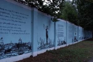 Mural, gdy istniał, pokrywał 250 mkw powierzchni stoczniowego muru.