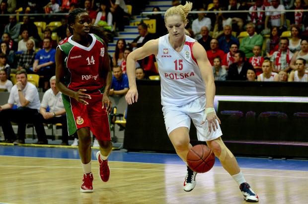 Magdalena Leciejewska z dobrej strony przypomniała się w Gdyni. Była koszykarka Lotosu zdobyła najwięcej punktów dla Polski w meczu z Portugalią.