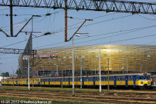 Przed Euro uruchomiona została kolejka z Gdańska Głównego do stadionu. Teraz wozi kibiców na mecze Lechii, uruchamiana jest też podczas dużych imprez na PGE Arenie.