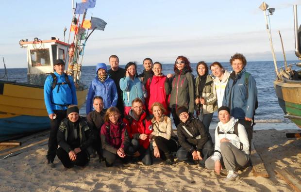 Migawki z wędrówki plażą z Gdyni Oksywia do Rewy