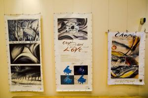 """W przerwie koncertu można było obejrzeć wystawę prac Per Oscara Gustava Dahlberga zatytułowaną """"Chopin w rysunkach""""."""