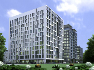 Elewacja Olivii Four będzie nieco różniła się od wcześniej powstałych budynków kompleksu.