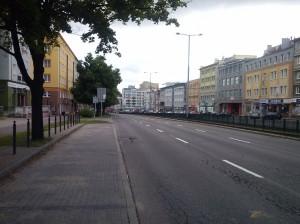 Mieszkańcy posłuchali apeli policji. Ulice Wrzeszcza są puste.