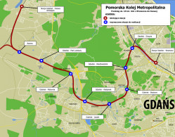 18-kilometrowy odcinek Pomorskiej Kolei Metropolitalnej.