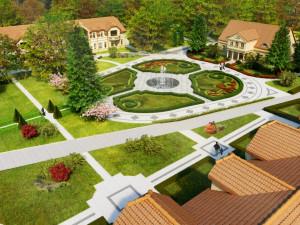 Po zakończeniu inwestycji piękne ogrody powstać mają także wewnątrz dziedzińca okalanego przez dworek, nowe budynki i przedszkole.