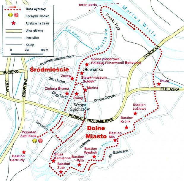 Schemat trasy wycieczki