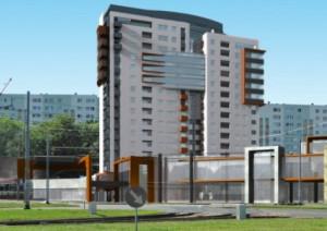 """Wysoki budynek na Żabiance - nie chcą go mieszkańcy osiedla, """"za"""" są właściciel terenu i miejscy urzędnicy."""