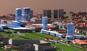 Przyszłość Wrzeszcza widziana oczami planistów z Biura Rozwoju Gdańska. Obok już istniejących budynków Quattro Towers i Olimpu, a także powstającego centrum biurowego Neptun, widać tu trzy kolejne wieżowce stojące wzdłuż linii kolejowej.