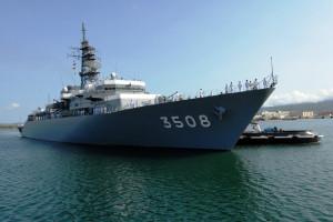 """""""Kashima"""" to długi na 143 m okręt szkoleniowy wybudowany w Japonii w 1994 roku. W środę rano wystrzeli 21 razy na cześć Polski i Japonii."""