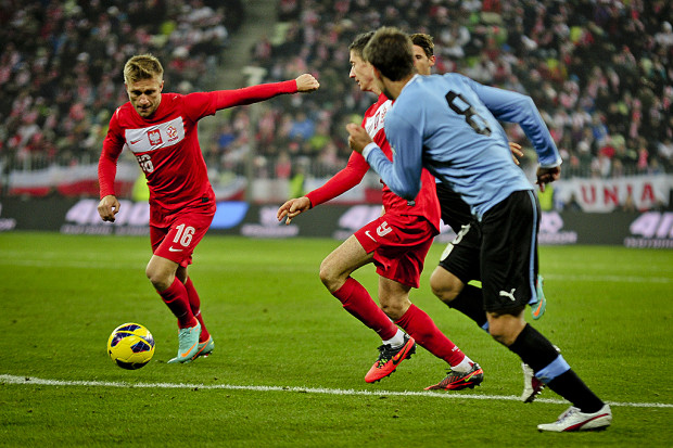 Reprezentacja Polski jeszcze nigdy w Gdańsku nie wygrała. Ostatnia wizyta zakończyła się porażką z Urugwajem 1:3. Na zdjęciu kapitan biało-czerwonych, Jakub Błaszczykowski.