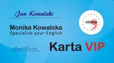 Uczestnicy kursów i warsztatów otrzymują też specjalne karty członkowskie Specialize your English.