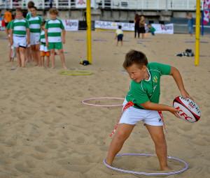 Oprócz zajęć z piłki ręcznej, każdy mógł spróbować swoich sił również w rugby.