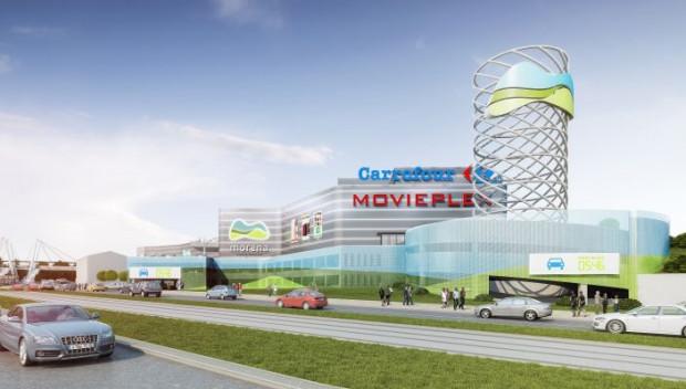 Centrum handlowe Morena ma się zmienić. Na razie nie wiadomo czy w centrum powstanie kino, co sugeruje wizualizacja.