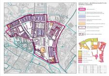 Mapa obrazująca zakres opracowania masterplanu kolorystycznego dla Wrzeszcza Dolnego.