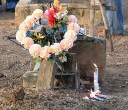 Grób na cmentarzu w Marecca w Brazylii.