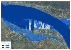 Dane ze skaningu laserowego są wykorzystane do mapy zagrożenia przeciwpowodziowego, która pokazuje jak stopniowo, w zależności od poziomu wody, zalane byłyby tereny Wiślinki i Wyspy Sobieszewskiej.
