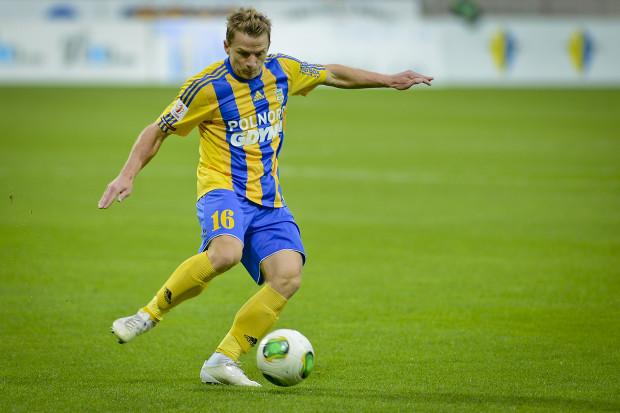 Adrian Budka w Łęcznej został cofnięty do obrony, a mimo to strzelił pierwszego gola w barwach Arki.