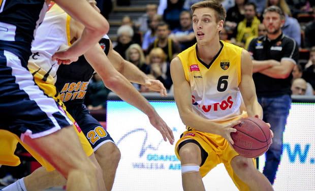 Łukasz Jaśkiewicz był jednym z najskuteczniejszych zawodników Trefla II Sopot podczas I rundy Intermarche Basket Cup.