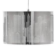 """Lampa wisząca New York w stylu """"city"""", chrom (Leroy Merlin)."""