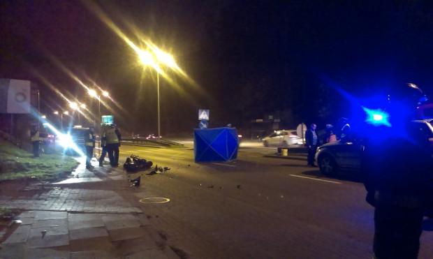 W wypadku na ul. Słowackiego w Gdańsku zginął motocyklista.