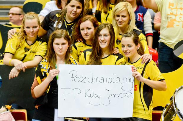 Podczas ostatniego meczu Lotosu Trefla, atakującego gdańskiej drużyny Jakuba Jarosza wspierała grupa fanek.