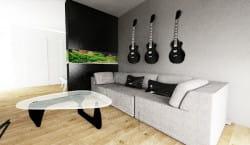 Akwarium widziane z wnętrza pomieszczenia również staje się jego najważniejszym, żywym elementem.