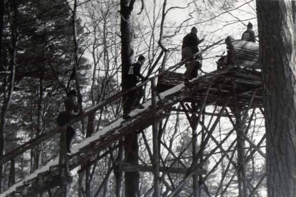 Skocznia narciarska w Dolinie Radości w Gdańsku Oliwie, lata 50.