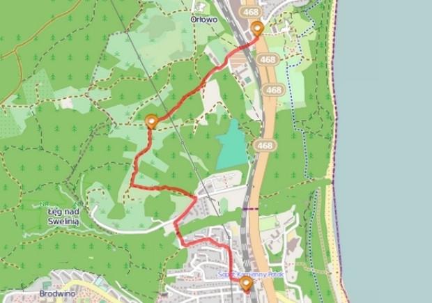 Kliknij na mapę by prześledzić dokładny przebieg szlaku