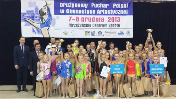 Uczestniczki Drużynowego Pucharu Polski w Mrzeżynie.