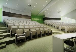 Audytorium na 180 osób, które mieścić się będzie na parterze nowego budynku biotechnologii.