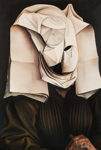 """Ewa Juszkiewicz, zwyciężczyni tegorocznego 41. Biennale Malarstwa """"Bielska jesień 2013"""" została nagrodzona Grand Prix - Nagrodą Ministra Kultury i Dziedzictwa Narodowego za zestaw prac: """"Girl in Blue"""" i """"Bez tytułu / według Rogiera van der Weydena""""."""