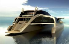Trimaran zachwyca futurystycznym wyglądem oraz zastosowanymi rozwiązaniami technologicznymi.