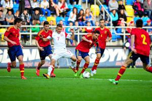 Mecze narodowej drużyny piłkarskiej do lat 18 cieszyły się w Gdyni sporym zainteresowaniem kibiców.