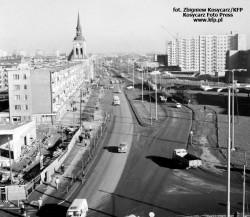 Skrzyżowanie ulic Elbląskiej (Długie Ogrody), Szafarni i Szopy w 1975 roku.