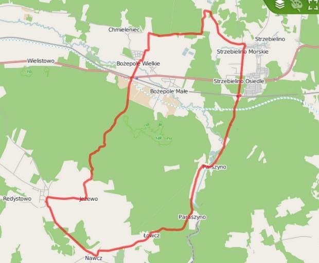 Ślad GPS trasy / kliknij na mapę by zapoznać się ze szczegółami
