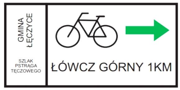Kierunkowe oznakowanie szlaku ustawione jest na krzyżówkach, a także przy tzw. wiatach wypoczynkowych.