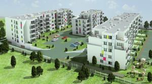 Na osiedlu Charbowa firmy Targo znaleźć można mieszkania z dopłatą o niewielkich metrażach.